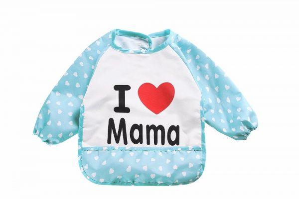 Waterdichte mouwslab I love mama blauw