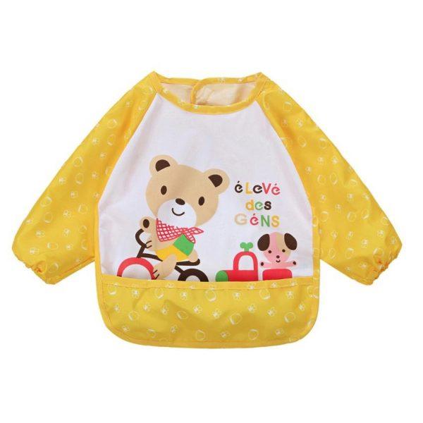 Waterdichte mouwslab beer geel