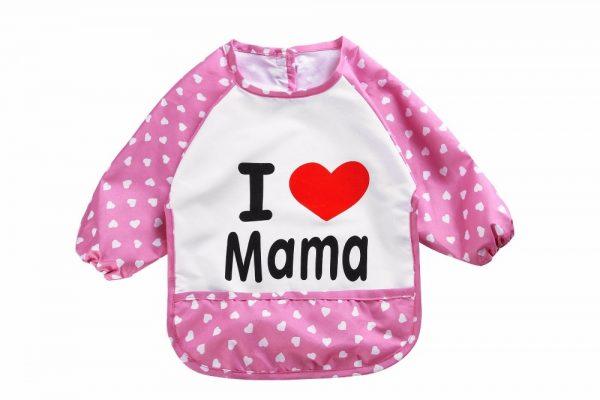 Waterdichte mouwslab I love mama roze
