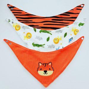 Puntslab set zoo oranje
