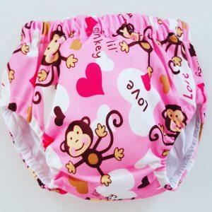 10-13 kg Oefenbroekje katoen aap roze