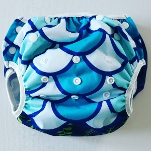 Big Size zwemluier zeemeermin blauw