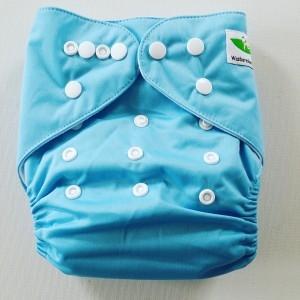One Size Pocket luier lichtblauw