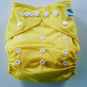 One Size Pocket luier geel