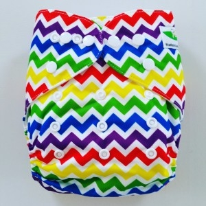 One Size Pocket luier zigzag kleur