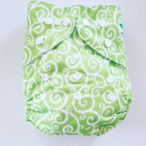 One Size Pocket luier creatief groen