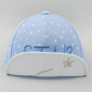 Cap star lichtblauw